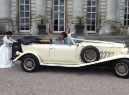 Convertible Beauford for weddings in Wembley
